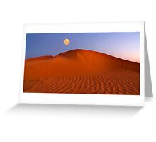 Moon at Sunrise - Perry Dunes Greeting Card