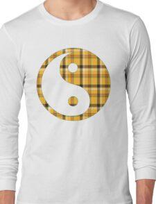 Yellow Plaid Long Sleeve T-Shirt