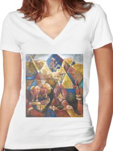 My Golden Triangle  Women's Fitted V-Neck T-Shirt
