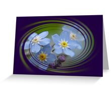 Forget-Me-Not with Decorative Border Greeting Card Greeting Card