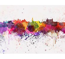 Toledo skyline in watercolor background Photographic Print