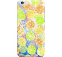 Abstract Frozen Citrus Fruit iPhone Case/Skin