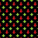 Upvote and Downvote Dinosaur Pattern by jezkemp
