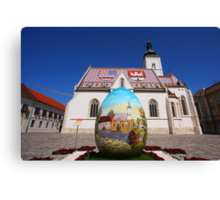 Easter in Zagreb Canvas Print