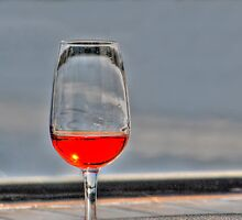 Glass half full!!! by Julie Teague