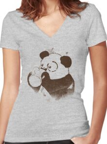 Eye Circle Women's Fitted V-Neck T-Shirt