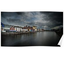 North Bank of the River Lee in Cork, Ireland Poster