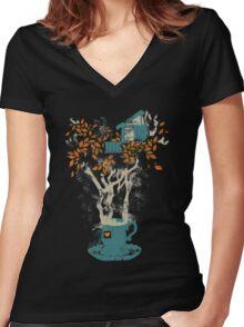 Tea House Women's Fitted V-Neck T-Shirt