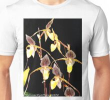 #298         Yellow & Black Orchids Unisex T-Shirt