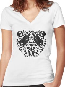 Bamboo Forest Women's Fitted V-Neck T-Shirt