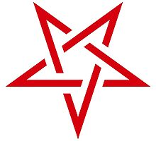 Red pentagram by baggsie138