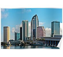 23 Exposure HDR of the City of Tampa Skyline Redo 1 Poster