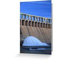 Hume Weir Wall, Albury, NSW, Australia. Greeting Card