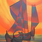 Abstract Sail Boats by taiche
