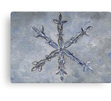 S is for Snowflake Canvas Print