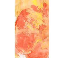 Wrinkled Fire - Paper Marbling Pattern Photographic Print