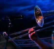 Blue Trombone by MaryGerken