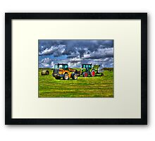 A Game of Tractor Chicken Framed Print