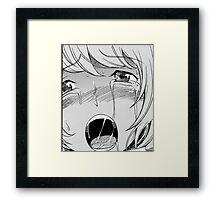 aoki ahegao Framed Print