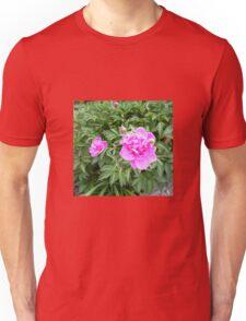 Peonies in a  garden Unisex T-Shirt
