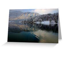 Wintery reflections of Bohinj Greeting Card
