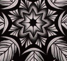 black dotowrk mandala Sticker