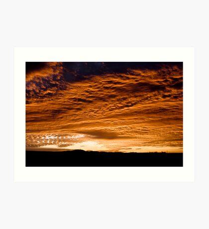 amanecer rojo Art Print