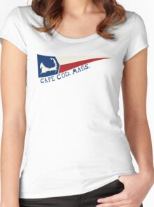 CAPE COD, MASS. Women's Fitted Scoop T-Shirt