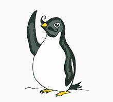 Penguin Waving with Moustache Unisex T-Shirt