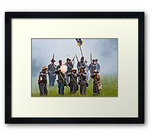 Here They Come Boys! Framed Print