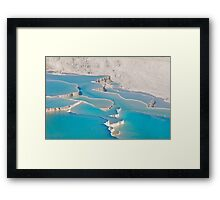 Postcard from Pamukkale, Turkey Framed Print