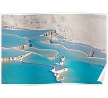 Postcard from Pamukkale, Turkey Poster