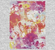 Red Rain abstraction painting One Piece - Long Sleeve