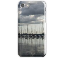 Yachts and Sailboats - the Silvery Calmness of Grays iPhone Case/Skin