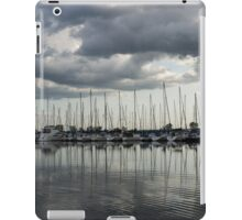 Yachts and Sailboats - the Silvery Calmness of Grays iPad Case/Skin