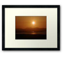 Honey Coloured Donegal Hills - Ireland Framed Print