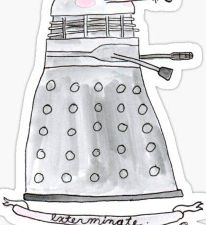 Doctor Who - Exterminate. Sticker