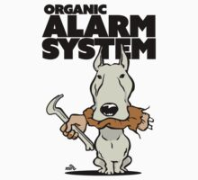 Pitbull alarm system cartoon by DogiStyle