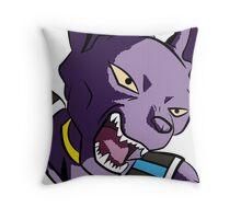 Beerus Pop Art DBZ Throw Pillow