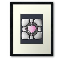 Portal Companion Cube - Shaded Framed Print