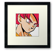 God Goku Pop Art DBZ Framed Print