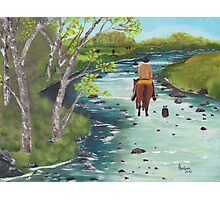 Up the Creek - Western Landscape - Oil Painting Photographic Print