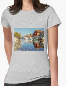 At the riverside. Womens Fitted T-Shirt