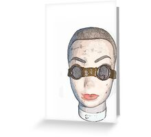 head with goggles  Greeting Card