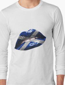 Scottish Flag Graphic Design Long Sleeve T-Shirt