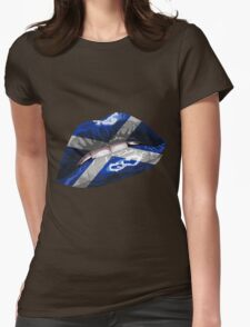 Scottish Flag Graphic Design Womens Fitted T-Shirt