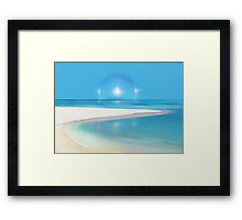 Postcard from Crane Bay in Barbados, Caribbean Framed Print