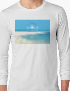Postcard from Crane Bay in Barbados, Caribbean Long Sleeve T-Shirt