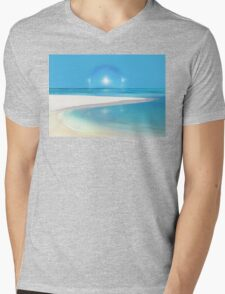 Postcard from Crane Bay in Barbados, Caribbean Mens V-Neck T-Shirt