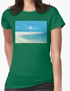 Postcard from Crane Bay in Barbados, Caribbean Womens Fitted T-Shirt